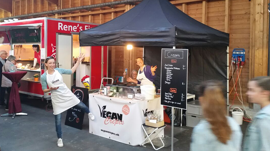 Vegancrepes am Zürich Marathon 2015